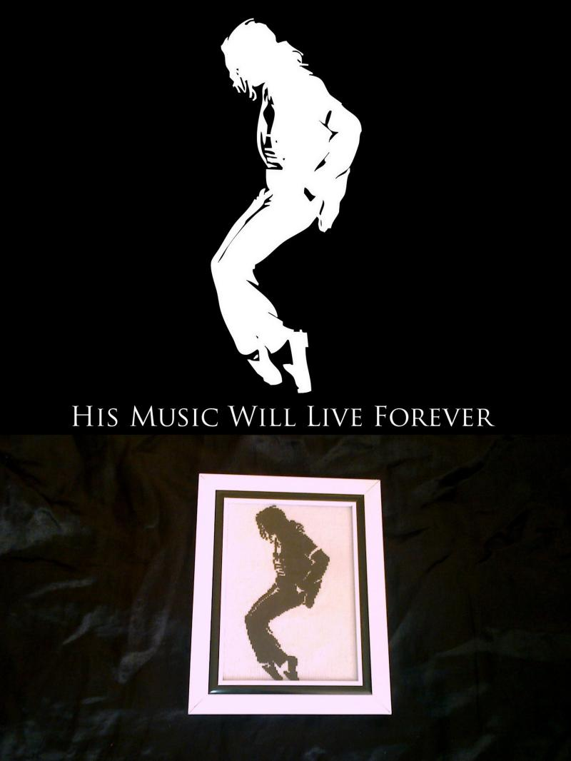Вышивка крестом :: His music will live forever.